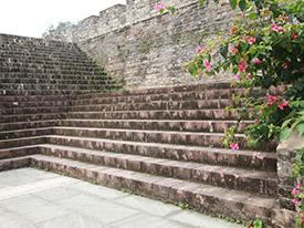 城墙、庭院、广场红砂岩石材路边石